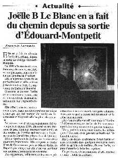 Joëlle B. Le Blanc en a fait du chemin depuis sa sortie d'Édouard-Montpetit