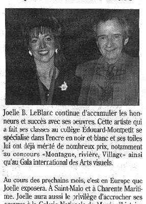 Joëlle B. Le Blanc exposera à Saint-Malo