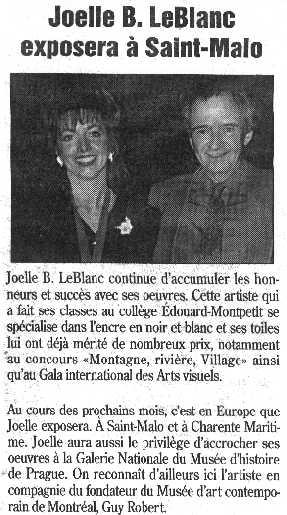 Joëlle B. Le Blanc Exhibit In Saint-Malo